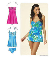 Sewing Pattern - Womens Pattern, Swim Dress Pattern, Two Views, - Kwik Sew #K3609