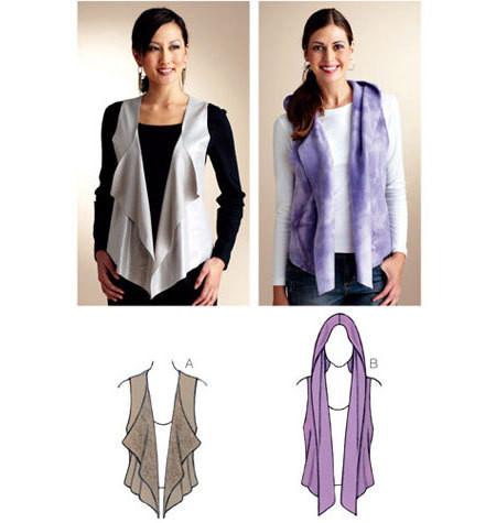 Sewing Pattern - Womens Pattern for Vest Pattern and Hoodie Pattern - Kwik  Sew #K3838 - Sewing Pattern - Womens Pattern For Sleepwear Tank Top Pattern