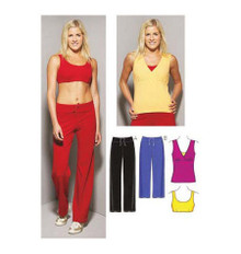 Sewing Pattern - Womens Sewing Pattern for Sports Pants Top and Bra - Kwik Sew #K3660