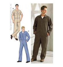Sewing Pattern - Mens Pattern, Coveralls Pattern, Kwik Sew #K3389