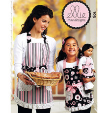 Sewing Pattern - Ellie Mae Designs Apron Pattern, Misses Apron Pattern, Children's Apron Pattern, Doll Apron Pattern Kwik Sew #K0103