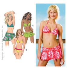 Sewing Pattern - Womens Pattern, Swimsuit Pattern, Bikini Pattern in Two Views, Wrap Pattern - Kwik Sew #K3330