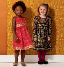 Sewing Pattern - Ellie Mae Designs Girls Dress Pattern in Two Views, Kwik Sew #K0156