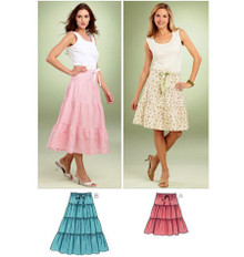 Sewing Pattern - Misses Pattern, Tiered Skirts Pattern, Kwik Sew #K3851