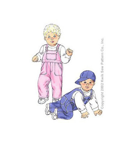 Sewing Pattern - Infant Pattern, Baby Pattern, Overall Pattern, Coverall Pattern- Kwik Sew #K3145