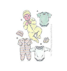 Sewing Pattern - Infant Pattern, Baby Pattern, Jumpsuit Pattern, Onsie Pattern, Bootie Pattern- Kwik Sew #K2433