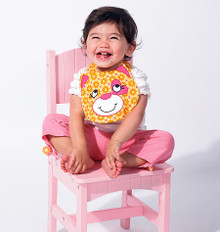 Sewing Pattern - Ellie Mae Designs, Infant Pattern, Baby Pattern, Bib Pattern in Four Views - #K0131