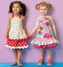 Sewing Pattern - Toddler Dresses in Two Views Pattern Kwik Sew # K0175