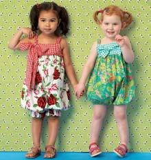 Sewing Pattern - Toddler Rompers in Two Views Pattern Kwik Sew # K0174