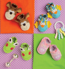 Sewing Pattern - Baby Booties in Four Views Kwik Sew # K0170