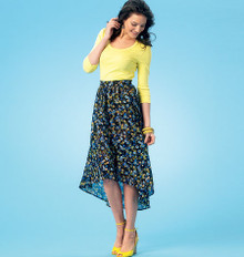 Sewing Pattern - Misses Asymmetrical Skirts in Two Views Kwik Sew # K4061
