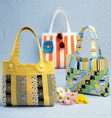 Sewing Pattern - Quilted Handbags in Three Views Kwik Sew # K0177