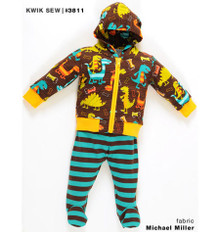 Sewing Pattern - Baby Pattern, Toddler Pattern, Jacket Pattern, Pants Pattern, Onesie Pattern- Kwik Sew #K3811