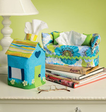 Sewing Pattern - Sue Sampson Designs Tissue Box Cover Pattern in Two Views, Kwik Sew # K4049