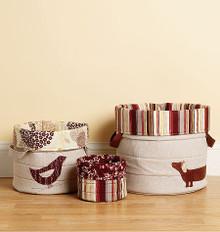 Sewing Pattern - Home Decor Pattern, Nora's Nesting Baskets Pattern, Kwik Sew #K3938