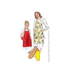 Sewing Pattern - Aprons Pattern, Aprons Pattern, Oven Mitts Pattern, Kwik Sew #K3247