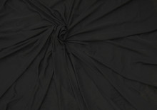 Glissenette Nylon Spandex Stretch Fabric - Matte Sheer Black Item # MTE95194-BK