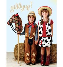 Sewing Pattern - Costumes Pattern, Giddyup Chaps Pattern, Vest Pattern, Skirt Pattern, Pony Pattern, Kwik Sew #K3920