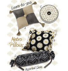 Sewing Pattern - Home Decor Pattern, Metro Pillows Pattern, Kwik Sew #K3910