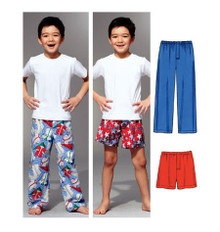 Sewing Pattern - Boys Pattern, Sleep Pants Pattern, Sleep Shorts Pattern, Kwik Sew #K3786