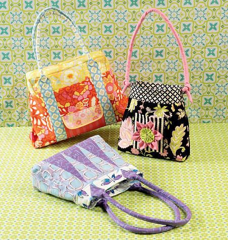 Sewing Pattern - Ellie Mae Designs Craft Pattern, Purse Pattern in Three Views Kwik Sew #K0142