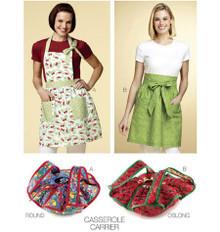 Sewing Pattern - Home Decor Pattern, Aprons Pattern, Casserole Carriers Pattern, Kwik Sew #K3772