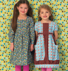Sewing Pattern - Ellie Mae Designs Girls Dress Pattern in Two Views, Kwik Sew #K0147