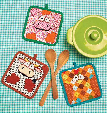 Sewing Pattern - Ellie Mae Designs Craft Pattern, Hot Pad Patterns Kwik Sew #K0150
