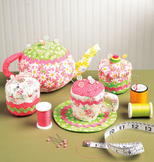 Sewing Pattern - Ellie Mae Designs Craft Pattern, Tea Party Pin Cushion Pattern in Three Views Kwik Sew #K0126