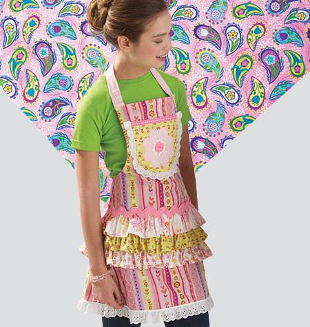 Sewing Pattern - Ellie Mae Designs Apron Pattern, Misses Apron Pattern, Children's Apron Pattern, Doll Apron Pattern Kwik Sew #K0136