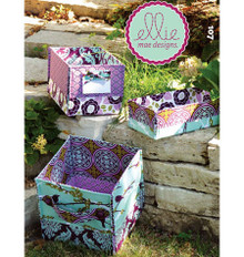 Sewing Pattern - Ellie Mae Designs Craft Pattern, Stash Boxes Pattern Kwik Sew #K0107