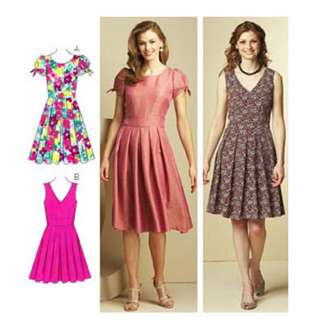 sewing pattern misses pattern pleated skirt dress