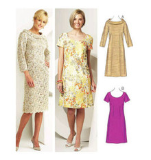 Sewing Pattern - Misses Pattern, Fitted Sheath Dress Pattern in Two Views #K3704