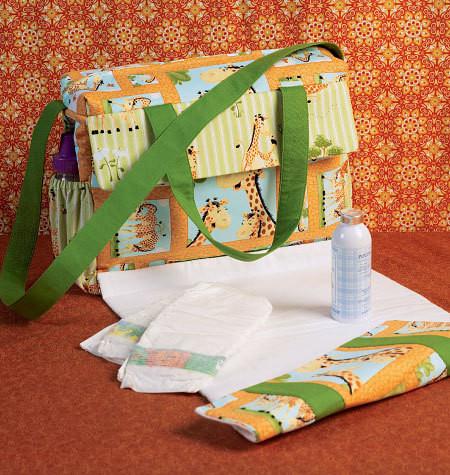 Sewing Pattern - Craft Pattern, Diaper Bag Pattern, Tote Pattern, Changing Pad Pattern Kwik Sew #K4019