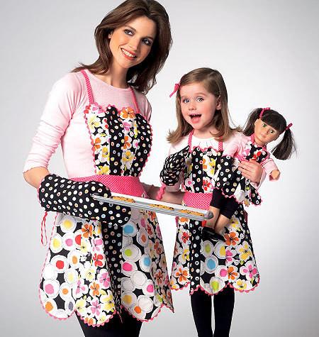 Sewing Pattern - Ellie Mae Designs Apron Pattern, Misses Apron Pattern, Children's Apron Pattern, Doll Apron Pattern Kwik Sew #K0124