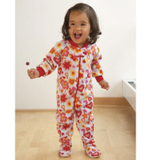 Sewing Pattern - Toddler Pattern, Sleepwear Pattern, Footed Pajama Pattern - #K3527