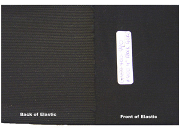 "Extra Wide Elastic - Cotton Gabardine Gore-4"" Wide Laid Flat to Show Back and Front of Elastic"