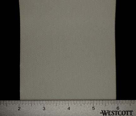 "Extra Wide Elastic - Cotton Gabardine Gore-4"" Wide White Laid Flat with Ruler to Show Width"