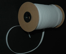 "3/8"" Braided Elastic - White on the Roll"