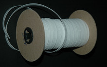 "1/4"" Braided Elastic - White Wide Polyester on the Roll"