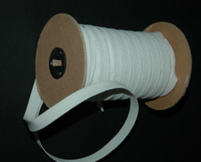 Braided Elastic - White Wide Polyester on the Roll