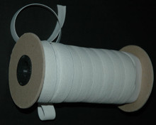 "5 Yards/Meters 3/4"" Braided Elastic - White Polyester on The Roll"