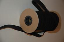 """1"""" Braided Elastic - Black Elastic Polyester Braid on Roll"""