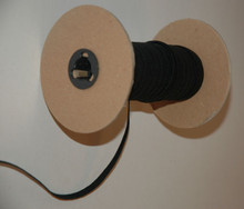 "Braided Elastic-Black-1/4"" Wide on the Roll"