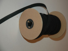 "3/4"" Braided Elastic - Black  Polyester on Roll"