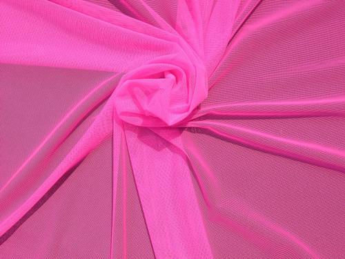 Stretch Mesh, Neon Pink Micro Mesh Fabric, Nylon Stretch Mesh, See Through  Mesh Item# RXPN 91409