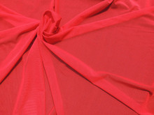 Stretch Mesh, Red Micro Mesh Fabric, Nylon Stretch Mesh- Morning Sunlight over Black Background