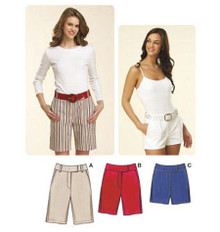Sewing Pattern - Misses Pattern, Fitted Shorts Pattern, Kwik Sew