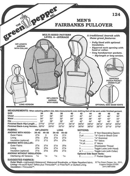 Sewing Pattern - Mens Pattern, Jacket Pattern, Anorak Coat Pattern