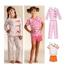 Sewing Pattern - Girls Pattern, Sleepy-time Pajamas Pattern, Kwik Sew